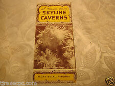 Virginia Skyline Caverns Front Royal travel pamphlet 1950's vintage