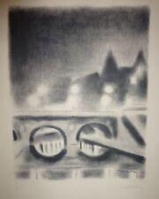 """Lithographie de FOY, """"Le Pont St Michel (La Nuit)"""""""