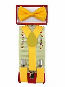Suspender and Bow Tie Set for Baby Toddler Kids Boys Girls Child - USA Seller