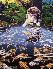 Jigsaw puzzle Animal Cat Camille and Koi 750 piece NEW