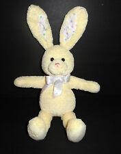 "Baby Gund 15"" MY FIRST BUNNY Plush Doll Yellow Crinkle Ears #3674 EUC"