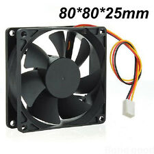 80mm x 80mm x 25mm New Case Fan 12V DC PC CPU Computer Cooling Ball Brg 3 pin