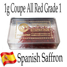 1g Spanish Saffron Coupe (ALL RED) Grade 1 Threads - Buy Saffron Online