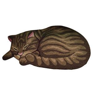 Non-Slip Door Floor Rug Mat Kitchen Bathroom Cartoon Cat Carpet Room Mat