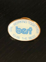 Vintage Collectible Best GTE Colorful Metal Pinback Lapel Pin Hat Pin