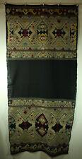 Southeast Asian Textile Indigo Pha Chet. Silk On Cotton 59 x 26.5 in.