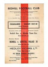 Redhill v Crystal Palace 24.4.1948 Friendly