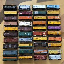 """Vintage Lot Of 40 HO 50"""" Freight/ Hopper Train Cars ~ Various Kinds!"""