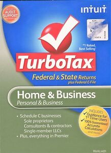 Intuit TurboTax Home & Business Federal + E-file + State 2012 for PC, Mac
