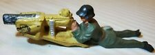 VINTAGE COMPOSITE ELASTOLIN,GERMANY.SWISS MILITARY FIGURES- PRONE MACHINE GUN