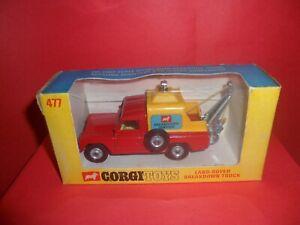HTF Corgi #477-Land-Rover Breakdown Truck/Rare Early Orig Window Box,NMIB,1967.