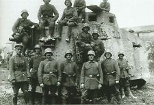 WW I German   Photo  **   Soldier With Tank  **