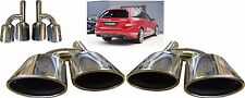 Quad Oval Chrome Exhaust Pipe Tips Muffler Tips For Mercedes Benz C63 AMG Estate