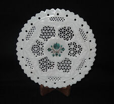 "8"" Marble Plate Malachite Grill Lattice Work Floral Design Inlaid Gifts Decor"