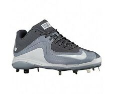 New Nike Air MVP Pro 2 Metal Baseball Cleats Size 12.5 Grey White