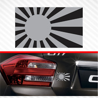 "4"" Japan Rising Sun Subdued Flag Vinyl Decal Bumper Sticker JDM Car Fits Honda"