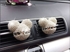2XCute Mickey Mouse Fragrance Car Air Freshener Auto Vent Perfume Diffuser White