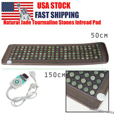 Electric Natural Jade Negative Ions Massage Stone Infrared Heating Mat Pad Home