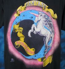 Vintage 80s UNICORN FANTASY U0026 ENCHANTMENT PAPER THIN T Shirt M/L Cartoon  Myth