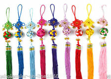 10PCS Feig Shui Chinese Lucky Chinese Knot Ball Bell Tassel Hanging Car Decor