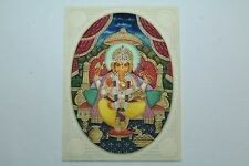Religious Handmade Painting on Resin India God Ganesha with Precious stones