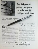 Lot 3 Vintage Parker T-Ball Jotter Pen Print Ads Stamp Out Jotter Snitching