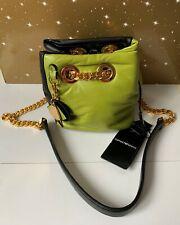 BNWT Emporio Armani Acid Green/Black Nappa Leather Shoulder Bucket Bag Purse