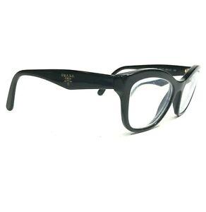Prada VPR 29R 1AB-1O1 Eyeglasses Sunglasses Frames Black Cat Eye Full Rim 140