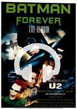 ☆☆ U2 BATMAN FOREVER THE ALBUM CD MC LP  ORIGINAL RARE MAGAZINE A4 Poster ☆
