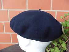 Baskenmütze, Herrenbaske, Barett dunkelblau, lieferbar in Gr.  54, 55, 56