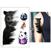 Temporäres Tattoo Bär Panda Fuchs Design Klebetattoo
