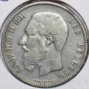 Belgium 1870 5 Francs Lion animal 294073 combine shipping