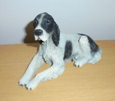 "VINTAGE SPANIEL BLACK & WHITE FIGURE 6"" X 4"" - CASTAGNA MADE IN ITALY"