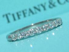 TIFFANY & CO. EMBRACE PLATINUM .27 DIAMOND SHARED SETTING WEDDING BAND RING 6