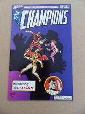 Champions 2 . Intro Fat Man + Icestar Story . Hero Comics 1987 . VF - minus