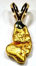 1.615 GRAM ALASKAN YUKON BC NATURAL GOLD NUGGET PENDANT (#P603)