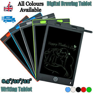 """8.5""""/10''/12"""" Electronic Digital LCD Writing Pad Tablet Drawing Graphics Board"""