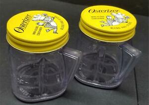 Vintage Set of 2 Osterizer Mini Blend Plastic Containers Blend & Store