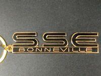 96-99 Pontiac Bonneville SSE Emblem (Black and Gold) Keychains (C11)