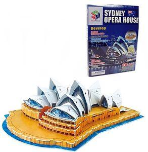3D-Puzzle' Sydney Opera House' From Styrofoam, 39 x 26 X 15 CM, 58 Pieces