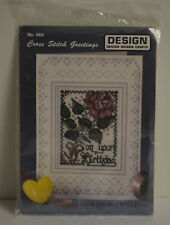 Design Works Greetings On Your Birthday New Cross Stitch #362 Sealed