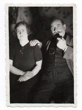 PHOTO ANCIENNE Portrait Couple Aimer Amant Amoureux Vers 1930 Lover Jeu Lumière