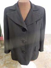 Vintage Kalets Auburn Ny Womens Coat Black Rayon Wool Blend 3 Velvet buttons