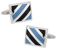 Blue Striped Cufflinks Direct from Cuff-Daddy