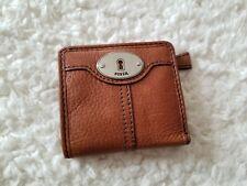 Fossil Marlow Leather Bifold Organizer Chestnut Brown Wallet NWT