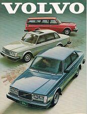 1981 VOLVO Catálogo / CATALOG con características GLE,BERTONE,GLT,DL,GL,turbo ,