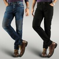 MENS NEW MOTORBIKE MOTORCYCLE REINFORCED JEANS WITH PROTECTIVE LINING TROUSER