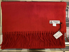 BNWT Turnbull & Asser cashmere scarf red