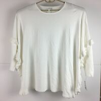 NY Collection Womens White Pullover Sweater XL *NWT*