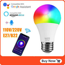 15W Wifi Smart RGB+CCT LED Bulb E27 B22 Dimmable for Amazon Alexa/Google Home ~